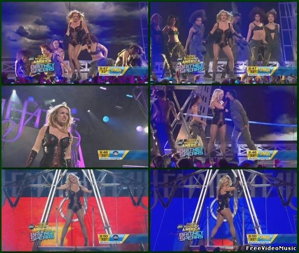 Britney Spears - Till The World Ends (GMA 2011) HD 720p