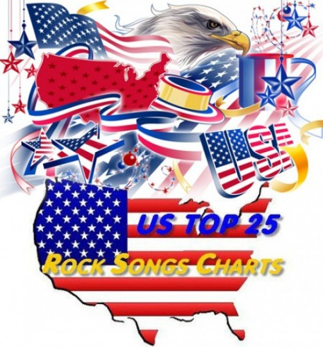 US TOP 25 Rock Songs Charts (04.08.2012)