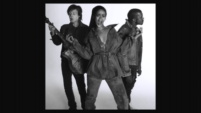 Rihanna And Kanye West And Paul McCartney - FourFiveSeconds (2015) HD 1080p